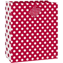 Unique 64424 Ruby Red Dots Giftbag-Med