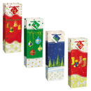 Partypro  Holiday Spirit Bottle Bags Assort (4/Ct)