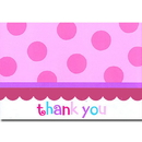 Partypro 789569 Sweet Cupcake Girl Thank You Note