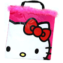 Partypro  Hello Kitty Tote Bag - Marabou Trim
