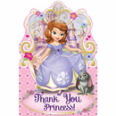 Amscan 481351 Sofia The First Postcard Thank You Notes