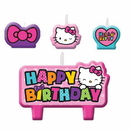 Amscan 171417 Hello Kitty Rainbow Candle Set
