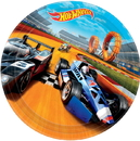 Partypro 551551 551551 Hot Wheels Wild Racer Dinner Plate