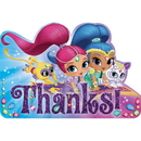 Amscan 481653 Shimmer & Shine Thank You Note