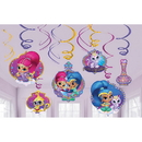 Partypro 671653 Shimmer & Shine Swirl Decorations