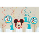 Partypro 671833 Mickey Fun To Be One Swirl Decorations
