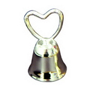 Partypro 3860 Silver Bell W/Heart Shaped Top