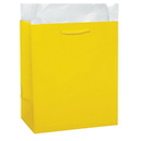 Partypro 22140 Canary Yellow Glossy Gift Bag Small