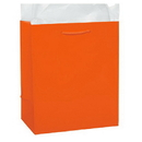 Partypro 22143 Orange Glossy Gift Bag Small