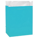 Partypro 22355 Ocean Blue Glossy Gift Bag Large