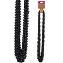 BLACK SMALL ROUND PARTY BEADS 12/CT