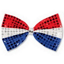 Partypro 60703-RSB Glitz 'N Gleam Bow Tie Red/Silver/Blue