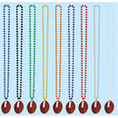 Partypro 50999-R Beads W/Football Medallion - Red