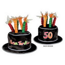 Partypro 60696-50 50 Over-The-Hill Plush Birthday Cake Hat