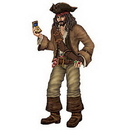 Partypro 50544 Pirate Captain Jointed Decoration