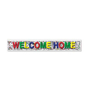 METALLIC WELCOME HOME BANNER