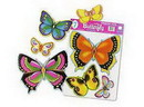 BUTTERFLY PUNCHOUT DECORATIONS (7 CT.)