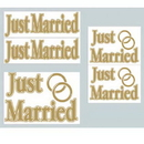 JUST MARRIED AUTO CLINGS