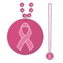 Partypro 57215 Pink Ribbon On Medallion Beads