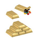 Partypro 57495 Gold Bar Favor Boxes