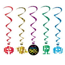 Partypro 57573 80'S Decade Whirls Decoration 5/Pkg