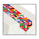 Beistle  Printed International Flag Table Runner