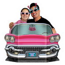 Partypro 57984 Pink Convertible Photo Prop