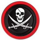 Partypro 58004 Pirate Dinner Plate (9In.)