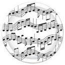 Beistle 58073 Musical Note Plates