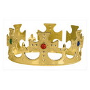 KINGS CROWN PLASTIC JEWELED GOLD