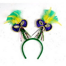 Partypro 60781 Mardi Gras Mask W/Feathers Boppers