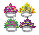 Beistle 88766-50 Color-Brite New Year Tiaras