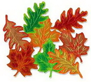 FALL LEAF FOIL DECORATIONS (16IN.-4 CT.)