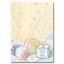 Partypro 191207 Baby Block & Quilt Imprintable Flat Card