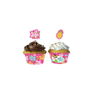 Partypro  Pink Luau Fun Cupcake Wrappers