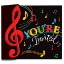 Partypro 895816 Discontinued Music Notes Invitation
