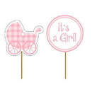 Creative Converting  Baby Girl Cupcake Picks