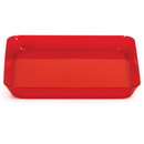 Creative Converting 178419 Red 5 In. Plastic Square Plate