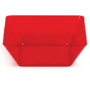 Creative Converting 055419 Red 5 In. Plastic Square Bowl