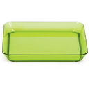 GREEN 5 IN. PLASTIC SQUARE PLATE