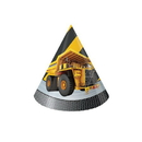 CONSTRUCTION ZONE PARTY HATS