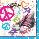 Partypro 665583 Discontinued Girls Rock 80'S Lunch Napkin