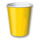 GOLDEN YELLOW 9OZ PAPER CUP (24CT.)