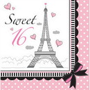 661184 Party In Paris Lunch Napkin Sweet 16