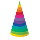 RAINBOW PARTY PARTY HATS