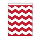 Creative Converting 071622 Red Chevron Large Paper Bag