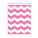 Creative Converting 071624 Pink Stripe Large Paper Bag