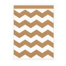Creative Converting 071627 Kraft Chevron Lg Paper Bag