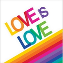 Creative Converting 661972 Rainbow Party Love Is Love Lunch Napk