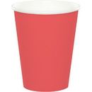 Creative Converting 563146B Coral Hot-Cold Cup 9 Oz